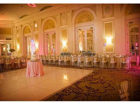 Gold Chiavari with dance floor