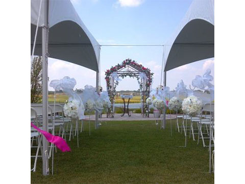 Tents with aisle