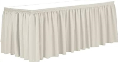 Rental store for 8  IVORY TABLE STAGE SKIRT in Peoria IL