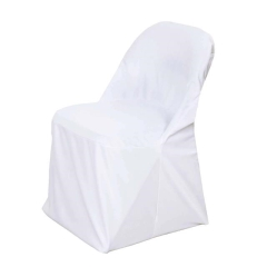 Rental store for POLY-STRETCH FOLDING CHAIR COVER, WHITE in Peoria IL