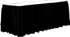 Rental store for 16  BLACK TABLE STAGE SKIRT in Peoria IL